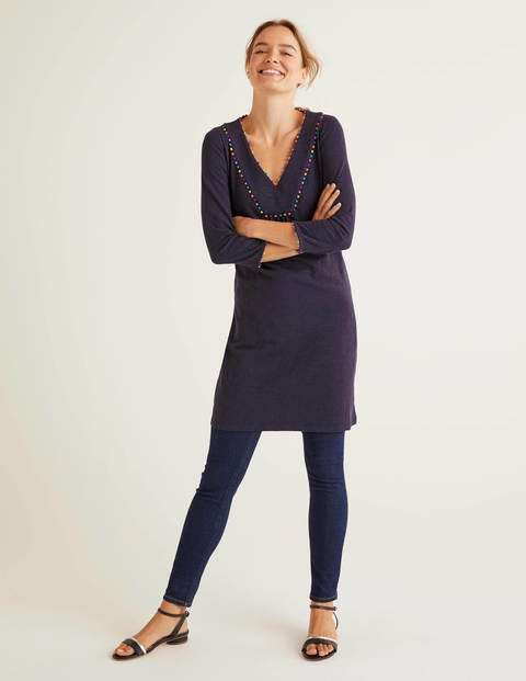 Charlie Jersey Tunic - Navy