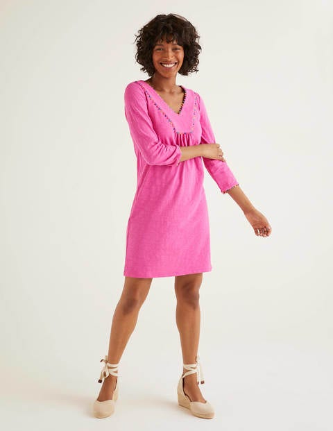 Charlie Jersey Tunic - Pop Pansy
