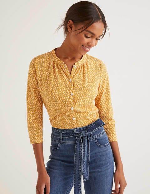Bay Jersey Shirt - Tuscan Sun, Daisy Bud