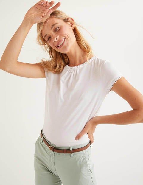 Tilda Frill Jersey Tee - White