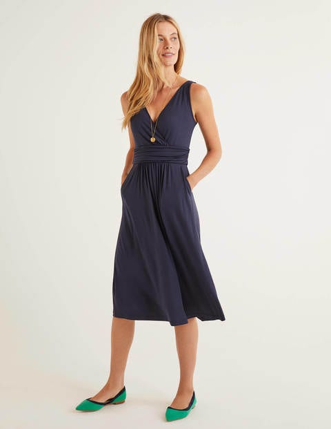 Effie Jersey Dress - Navy
