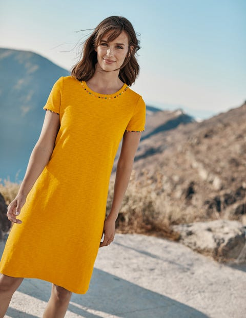 Charlie Jersey T-shirt Dress - Tuscan Sun