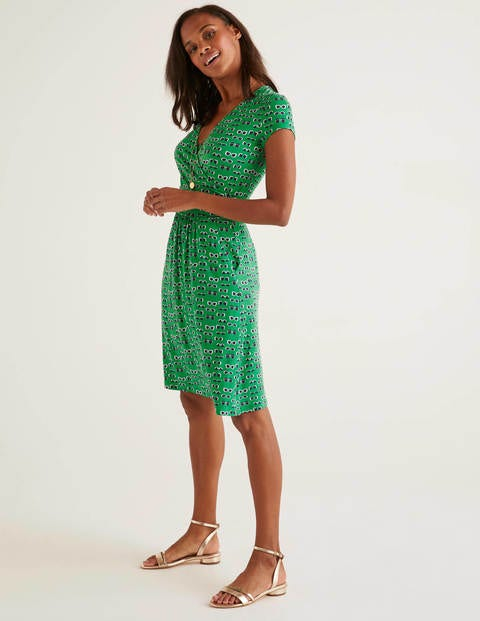 Lola Jersey Dress - Rich Emerald, Lunettes