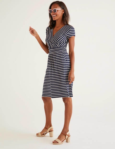 Navy/White Stripe Lola Jersey Dress