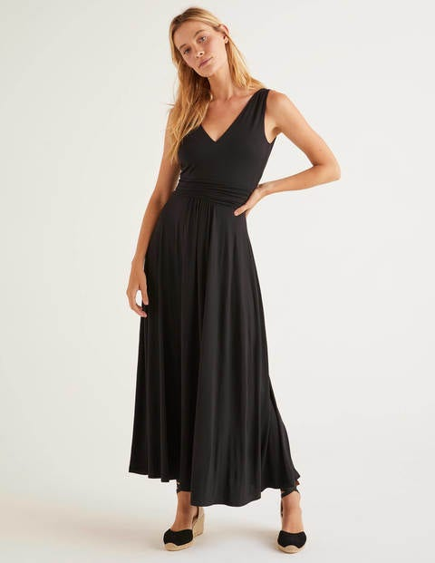 Sienna Jersey Maxi Dress - Black