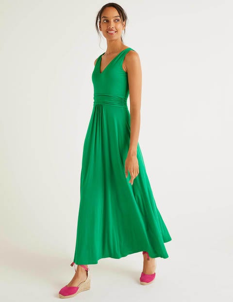 Sienna Jersey Maxi Dress - Rich Emerald