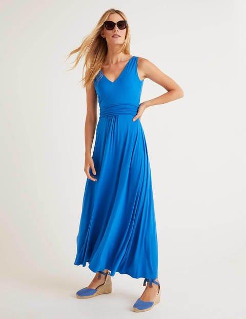 Sienna Jersey Maxi Dress - Bold Blue