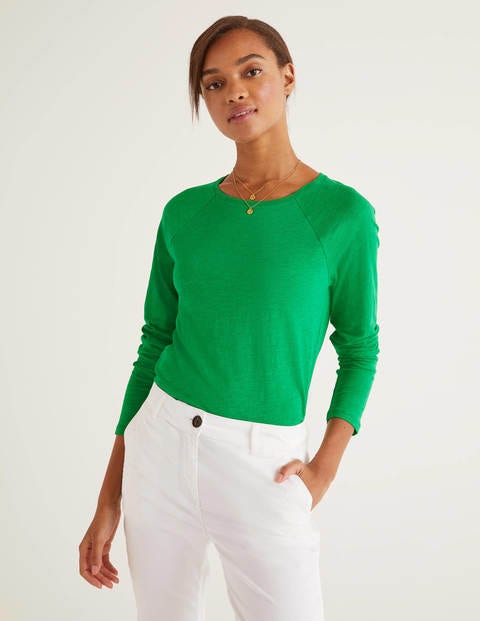 The Cotton Baseball Tee - Rich Emerald