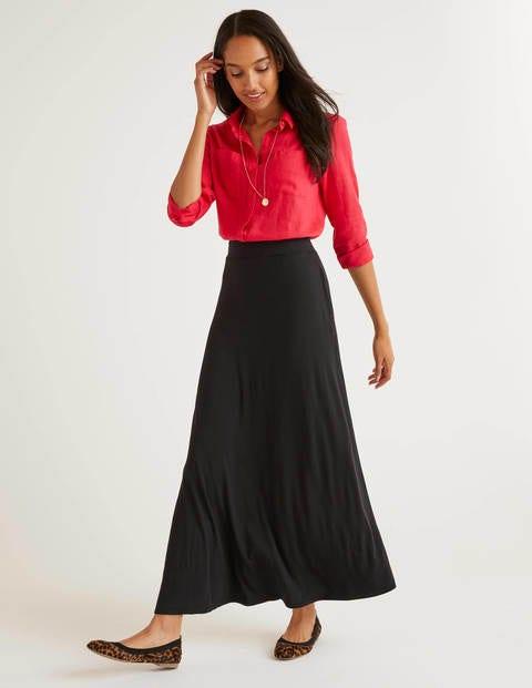 Jersey Maxi Skirt - Black