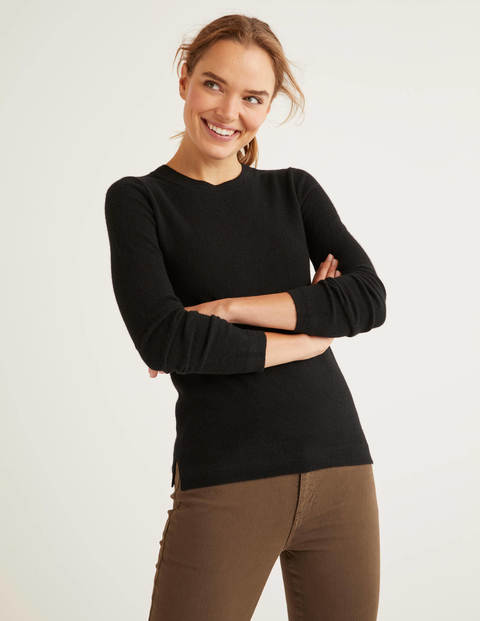 Cashmere Crew Neck Jumper - Black