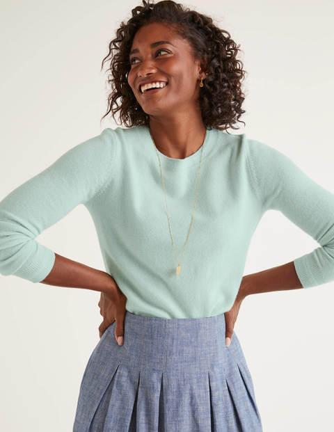 Cashmere Crew Neck Jumper - Mint Cake