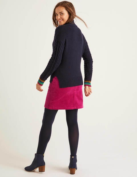 Winifred Cable Sweater Navy