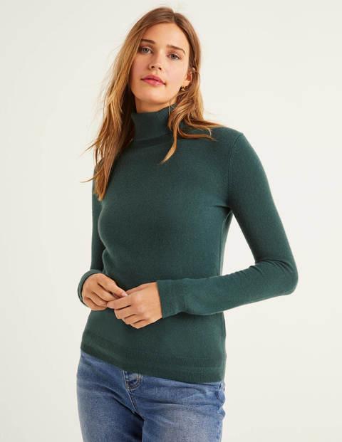 Cashmere Roll Neck Sweater - Midnight Garden