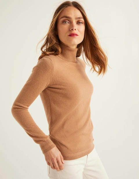 Cashmere Roll Neck - Camel