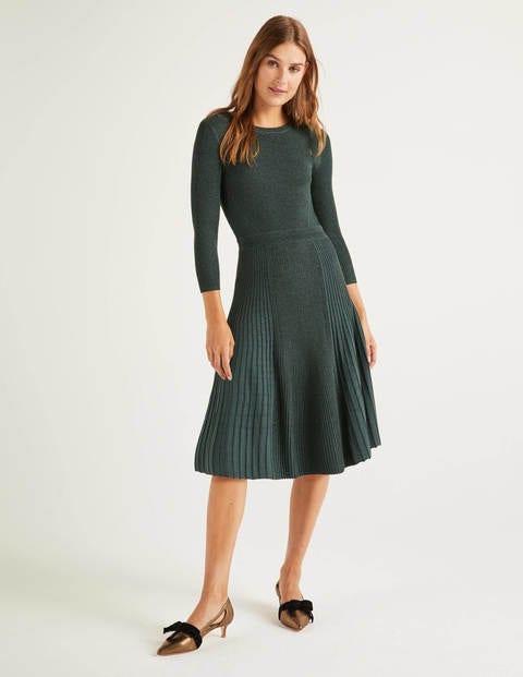 boden - Diona Kleid mit Glitzer Green Damen , Green