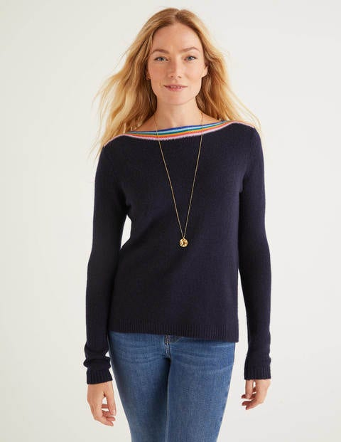 Guildford Cashmere Sweater - Navy