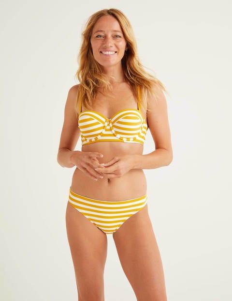 Bikini Bottoms - Yellow/Ivory Stripe
