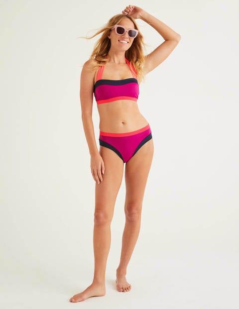 Santorini Bikini Bottoms - Polished Berry Colourblock