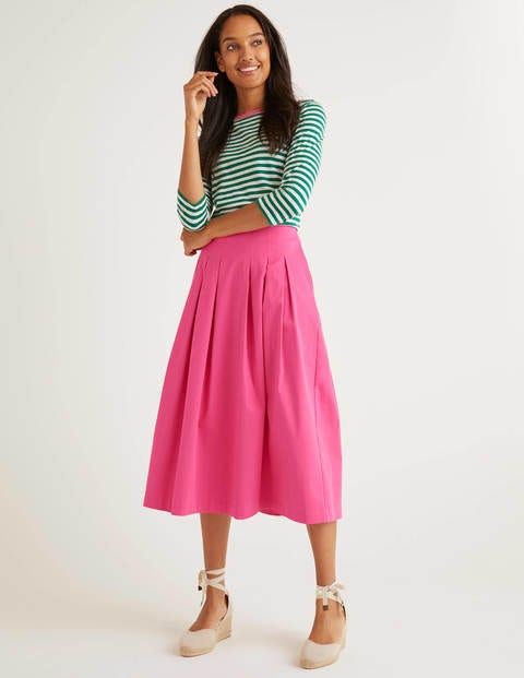 Theodora Pleated Skirt - Bright Camellia