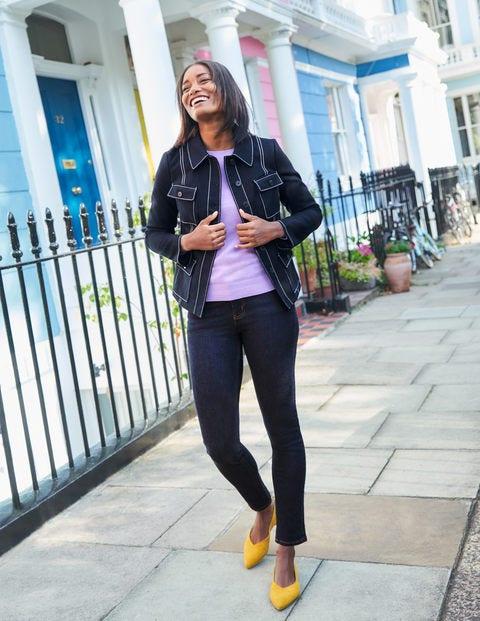 Schmale Jeans mit geradem Bein - Indigoblau
