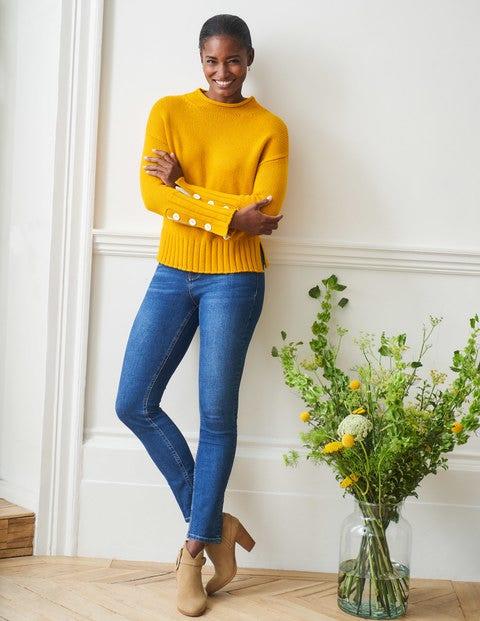 Schmale Jeans mit geradem Bein - Mittleres Vintageblau