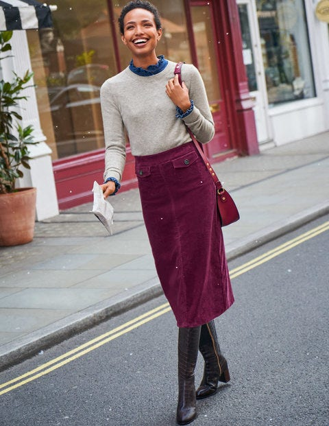 Natalie Midi Skirt - Ruby Ring