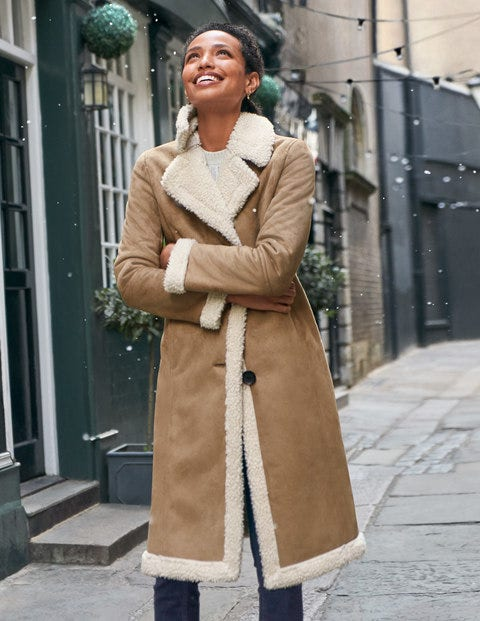 Bell Teddy Lined Coat - Natural
