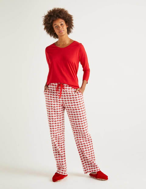 Vanessa Cosy Pants - Ivory, Starry Fox