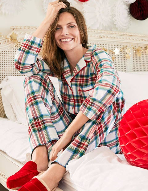 Vanessa Cosy Pyjamas - Rockabilly Red, Linden Check