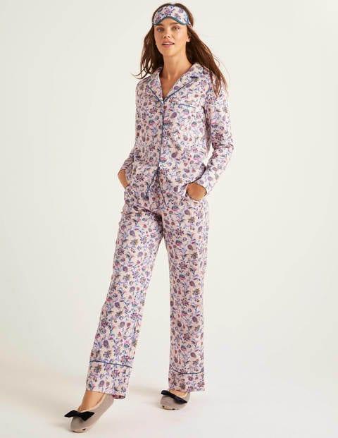Bas De Pyjama Janie - Milkshake, motif vigne poétique