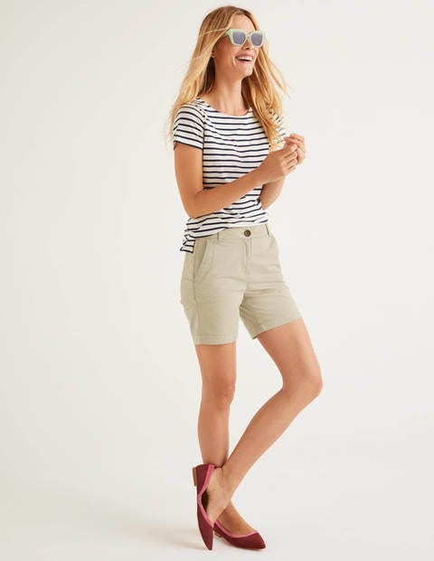 Daisy Chino Shorts - Soft Stone