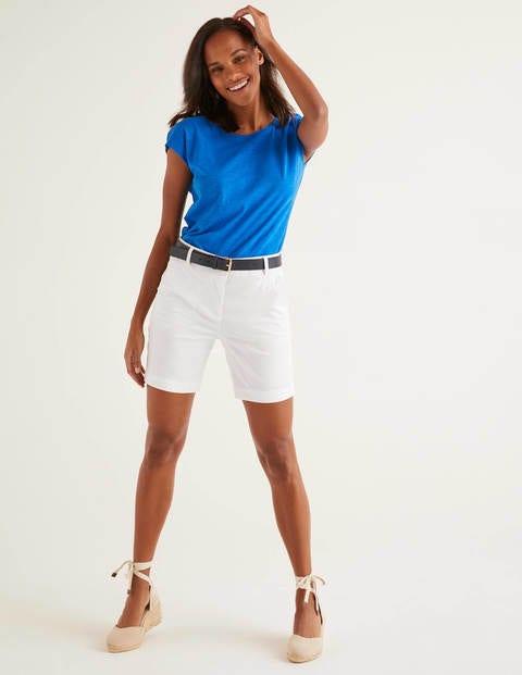 Daisy Chino Shorts - White