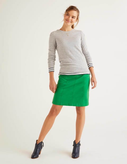 Daisy Chino Skirt - Rich Emerald