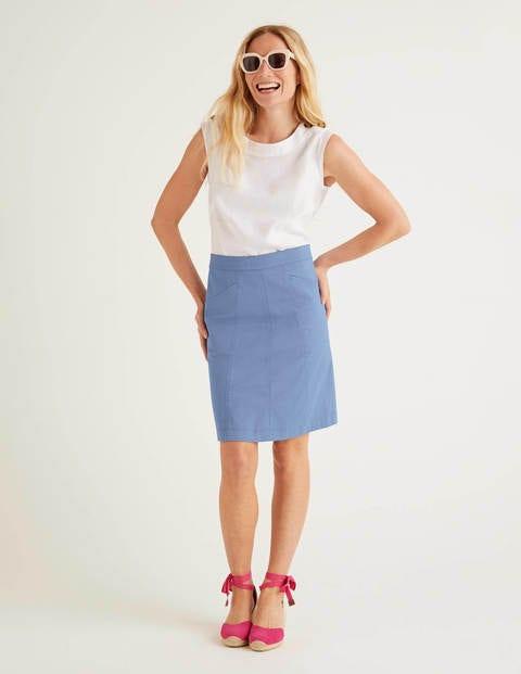 Daisy Chino Skirt - Sea Mist