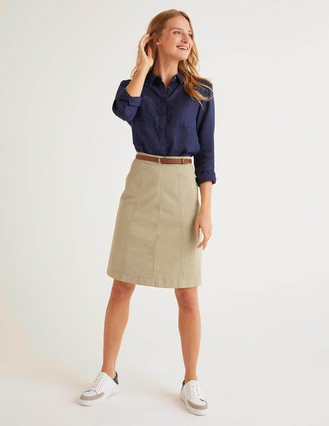 Daisy Chino Skirt - Soft Stone