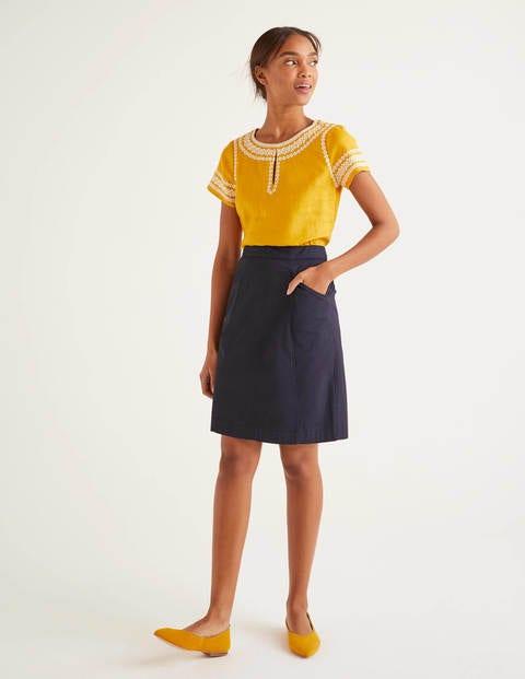 Daisy Chino Skirt - Navy