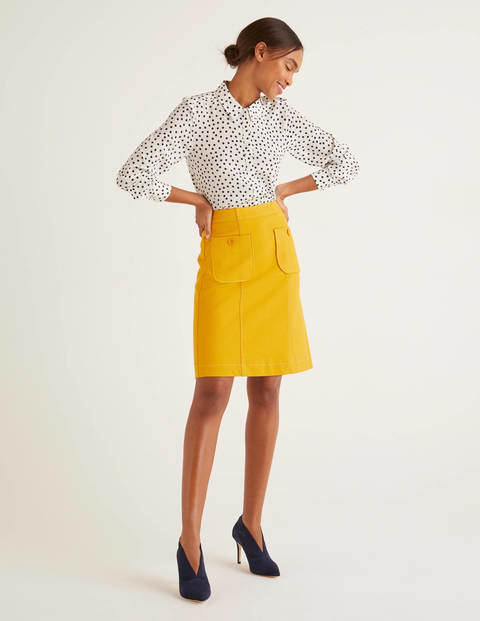 Minirock mit Taschennaht Yellow Damen Boden, Yellow