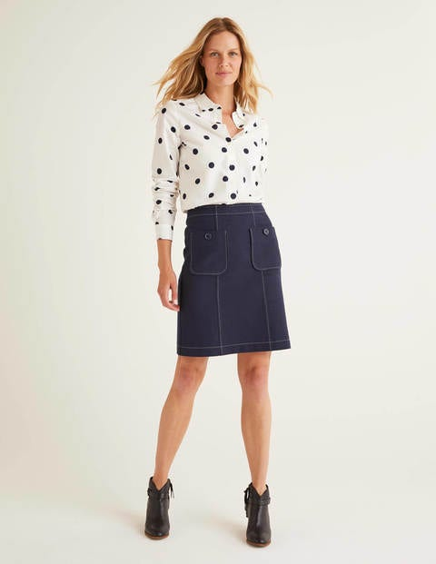 Tallis Pocket Mini Skirt - Navy