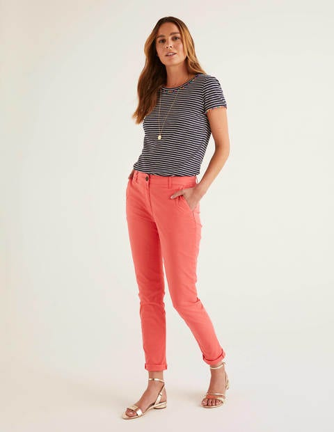 Daisy Chino Pants - Coral Reef