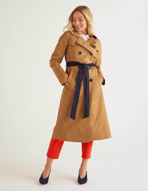 Trenchcoat Brown Damen Boden, Brown