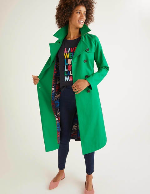 Franklin Trench Coat - Rich Emerald