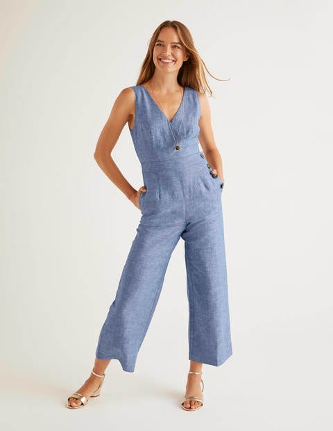 Dorothea Wrap Jumpsuit - Chambray