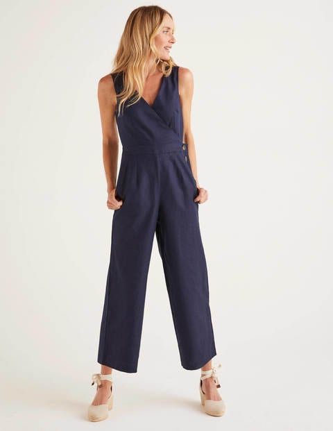 Dorothea Wrap Jumpsuit - Navy