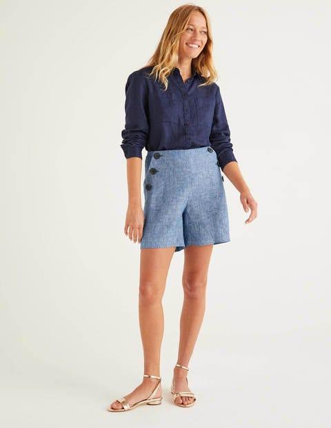 Falmouth Linen Shorts - Chambray