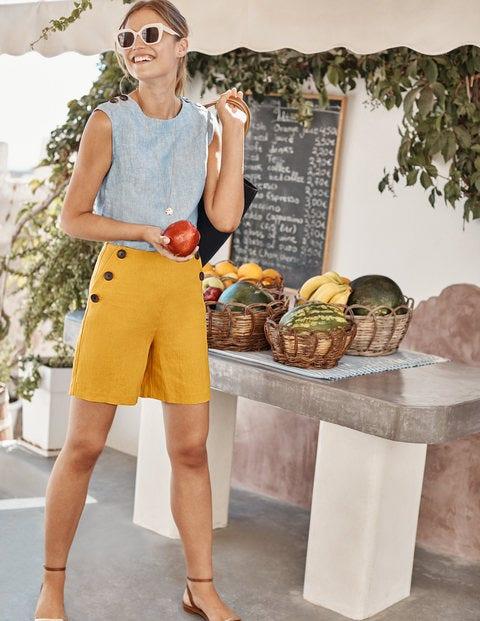 Falmouth Linen Shorts - Tuscan Sun