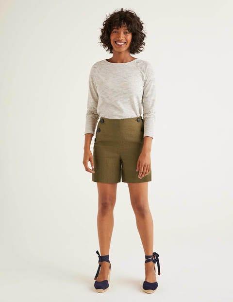 Falmouth Linen Shorts - Classic Khaki