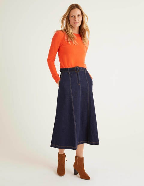 Mira Denim Midi Skirt