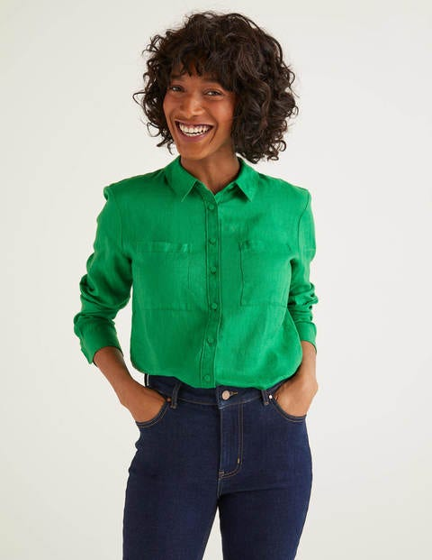 Linen Shirt - Rich Emerald