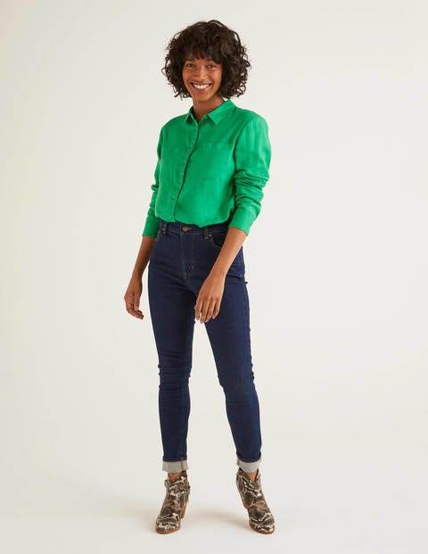Linen Shirt - Rich Emerald