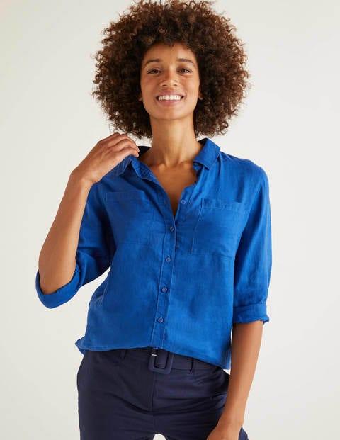 Linen Shirt - Cobalt